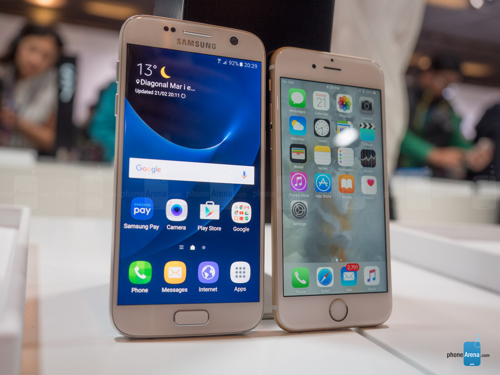 samsung s7 vs iphone 6s benchmark