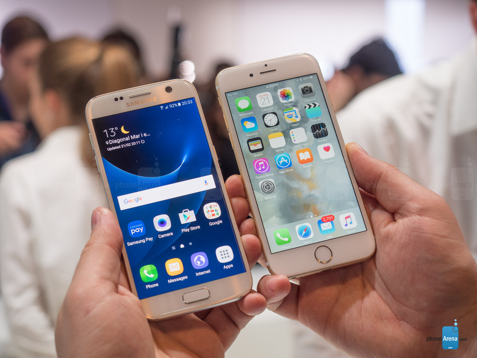 Samsung Galaxy S7 vs iPhone 6s: first look   PhoneArena reviews