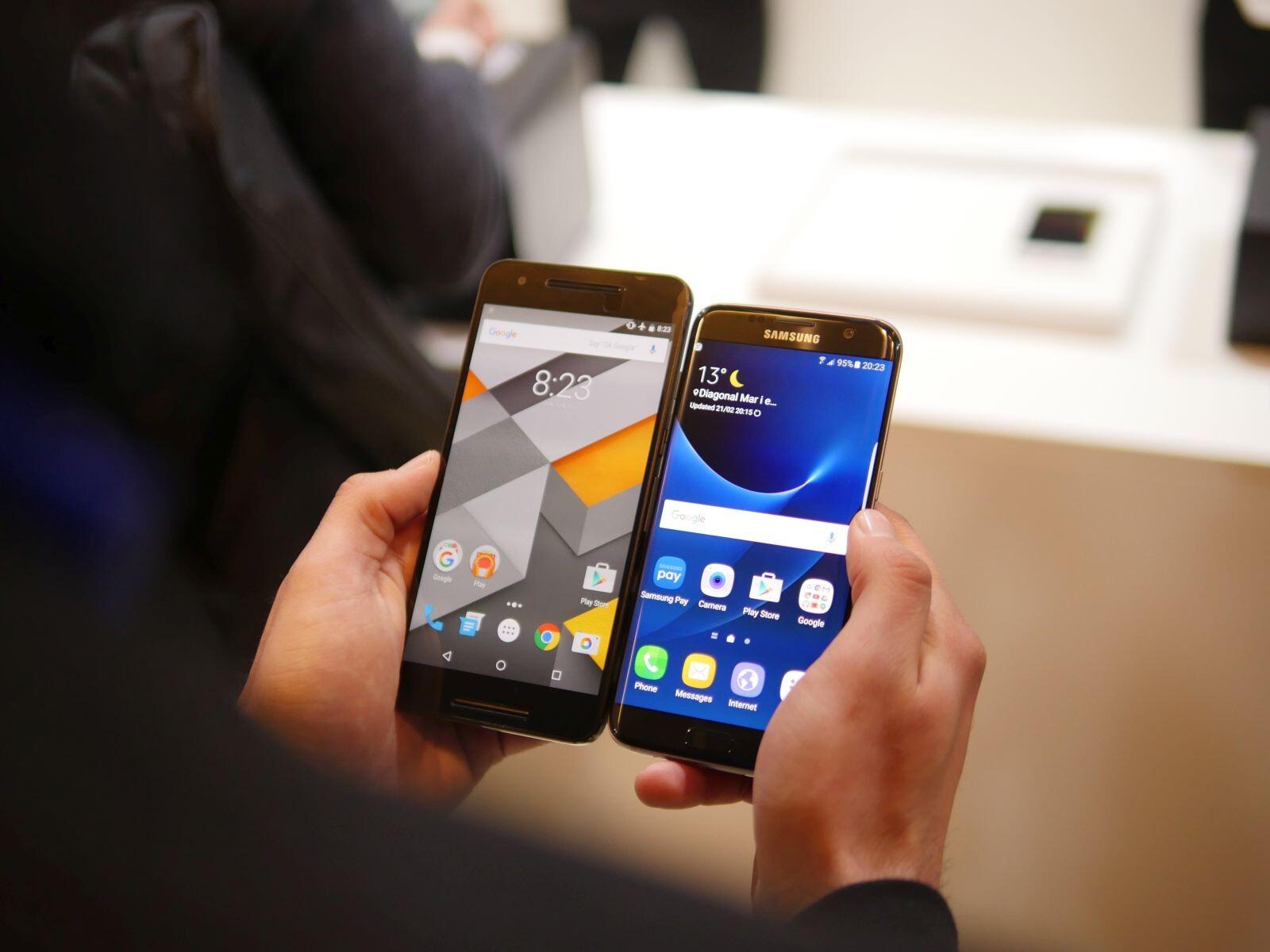 Samsung Galaxy S7 edge vs Google Nexus 6P: first look ...