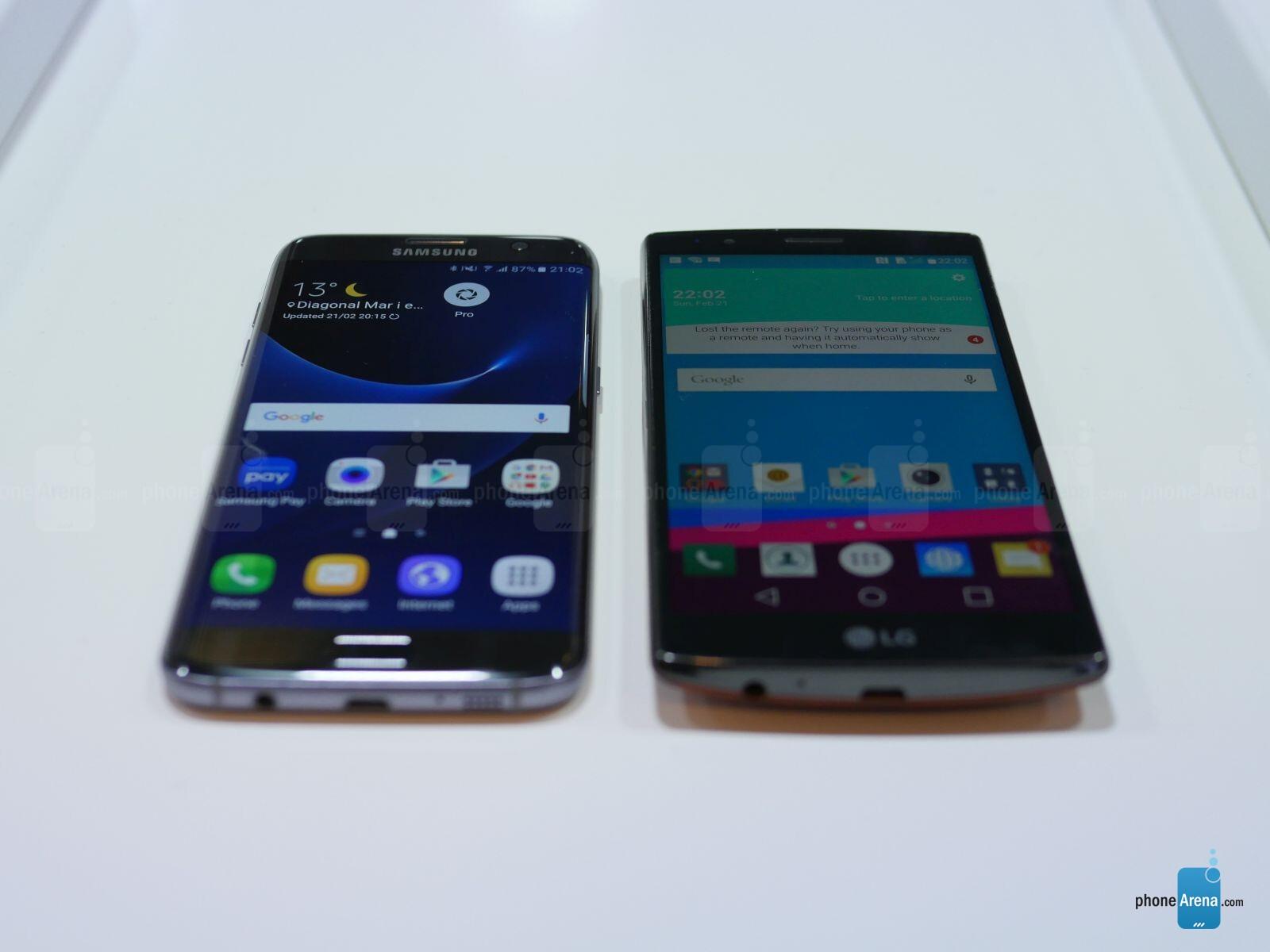 Samsung Galaxy S7 Edge Vs LG G4: First Look