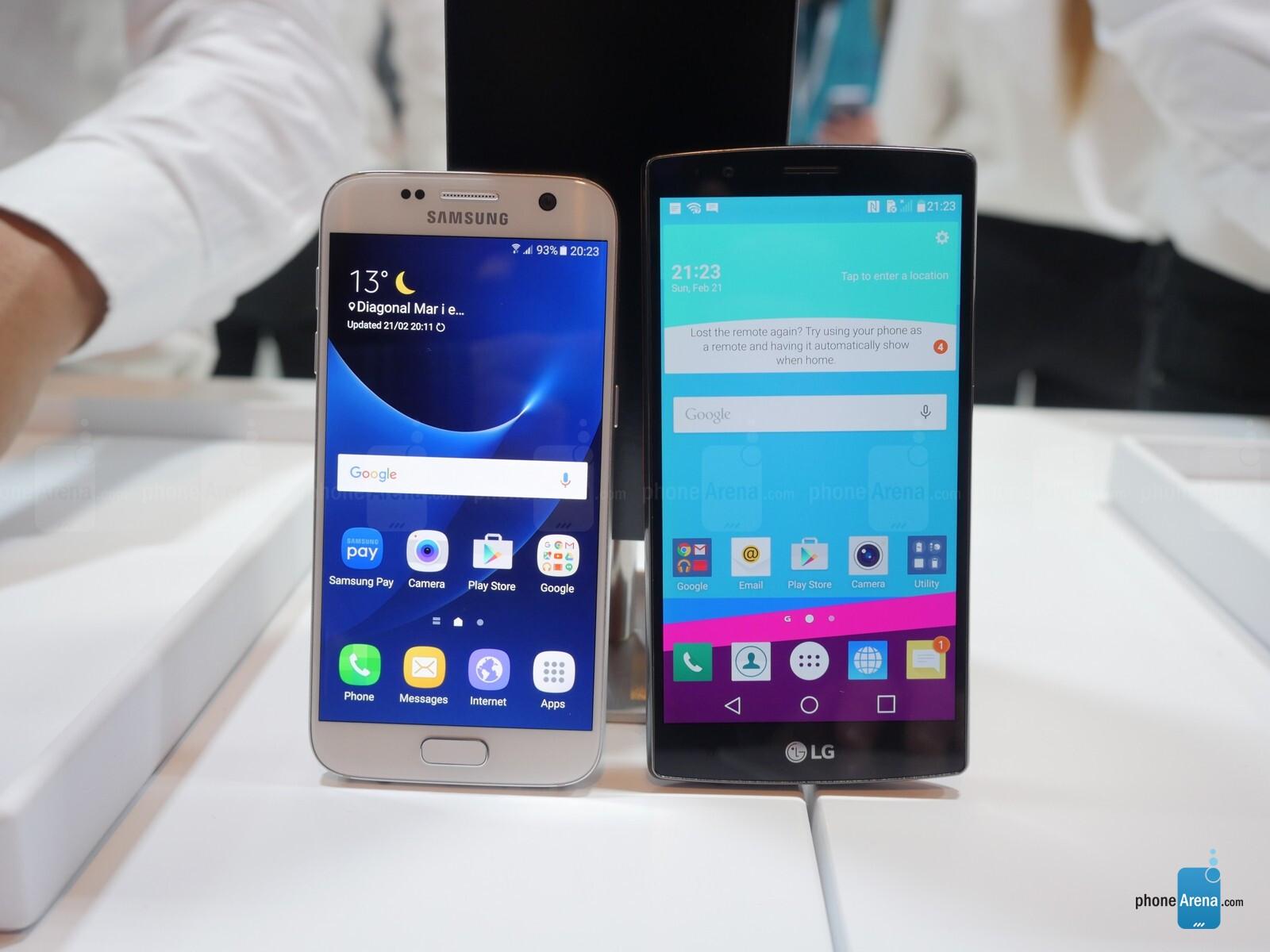 Samsung Galaxy S7 vs LG G4: first look   PhoneArena reviews - PhoneArena
