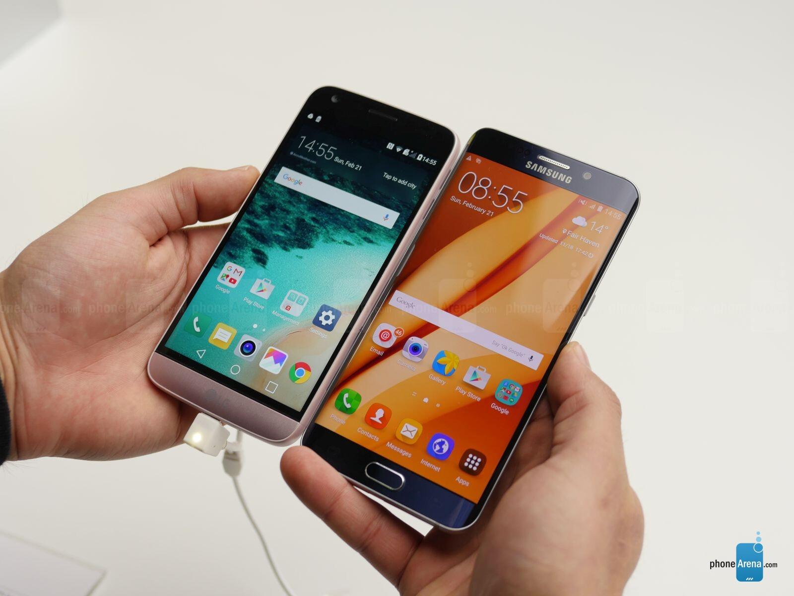 LG G5 vs Samsung Galaxy S6 edge+: first look