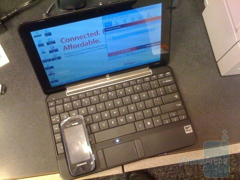 Verizon's HP Mini 1151NR Netbook has a fashionable design and large keys - Verizon's HP Mini 1151 NR Netbook – live photos and impressions