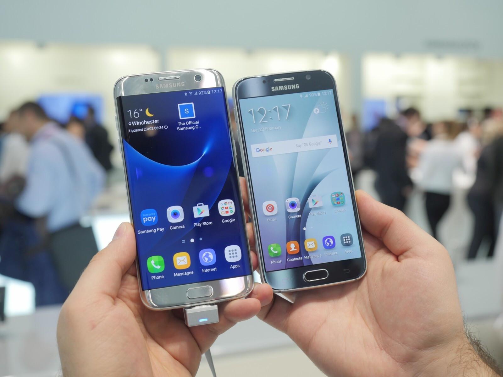 Samsung Galaxy S7 edge vs Galaxy S6: first look comparison ...