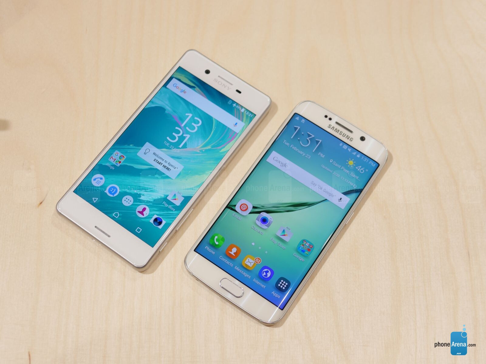 sony xperia x performance vs samsung galaxy s6 edge first