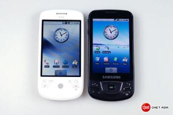 Photo shoot of HTC Magic & Samsung I7500 shows comparisons