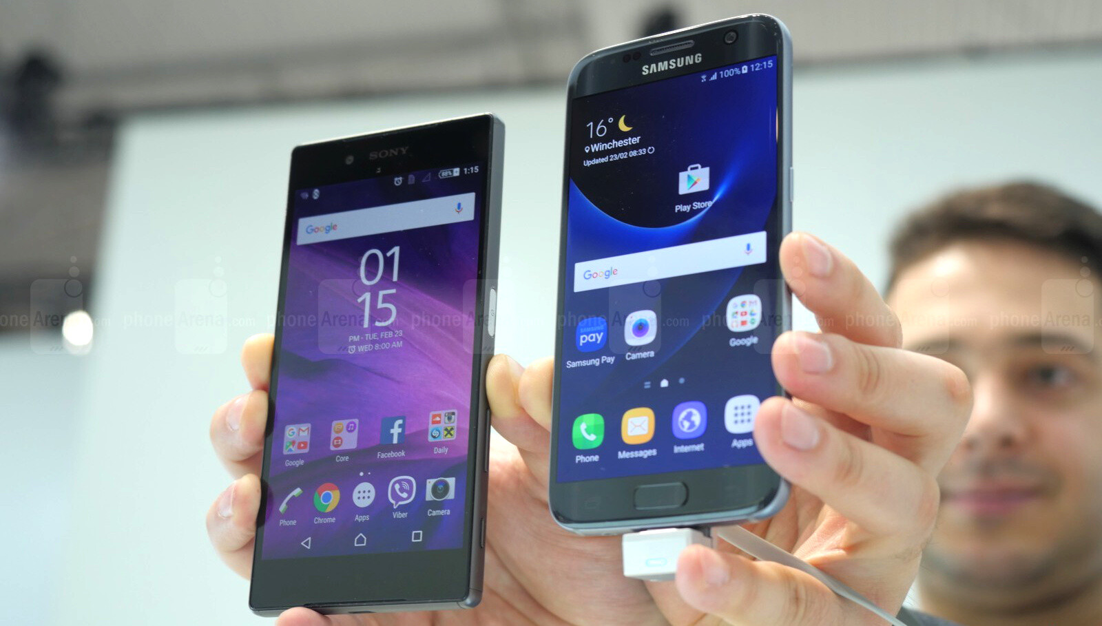 samsung galaxy s7 vs sony xperia z5 first look