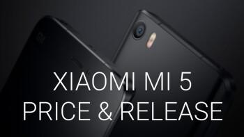 Xiaomi Mi 5 price and release date