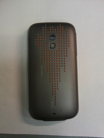 The back side of the HTC Touch Pro2 features a beautifully-designed loudspeaker grill