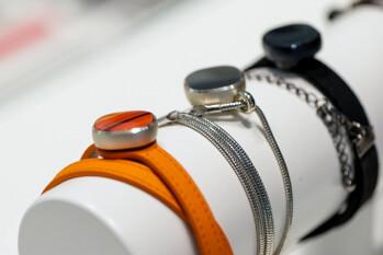 The Samsung Charm, a stylish barbones fitness tracker