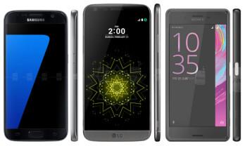 Galaxy S7 vs G5 vs Xperia X Performance: triple threat match
