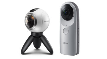 The new Samsung Gear 360 and the LG 360 CAM 360-degree cameras