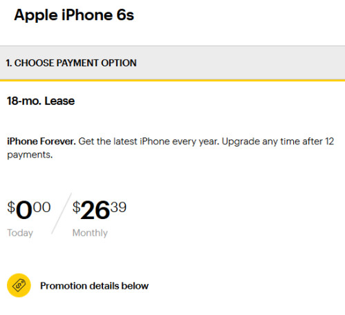 Lease the 16GB Apple iPhone 6s from Sprint...