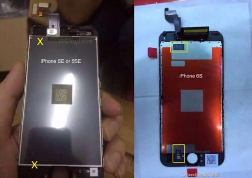 Alleged iPhone SE is compared to the Apple iPhone 6s