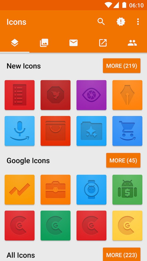 Gaufrer icon pack
