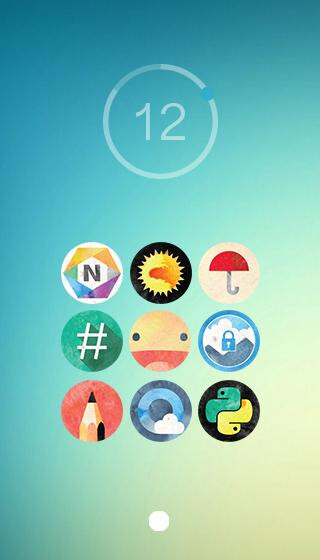 Painted Sphere icon pack