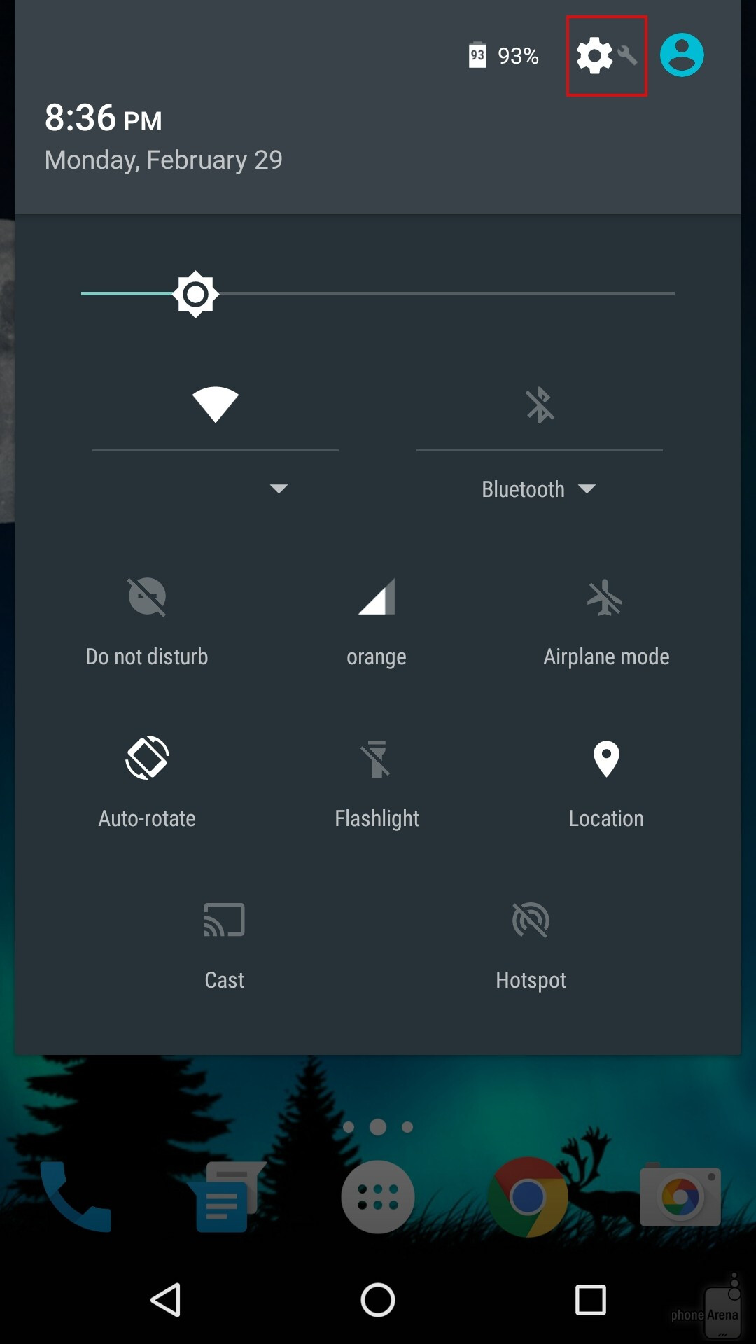 On stock Android, go to Settings.