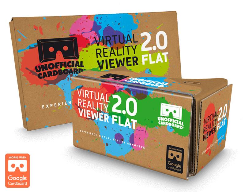 UC 2.0 Flat Cardboard VR Viewer, $14.95