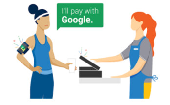 The first step when using the Hands Free app is to tell the cashier that you are paying with Google