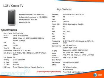LG Opera TV has Mobile TV