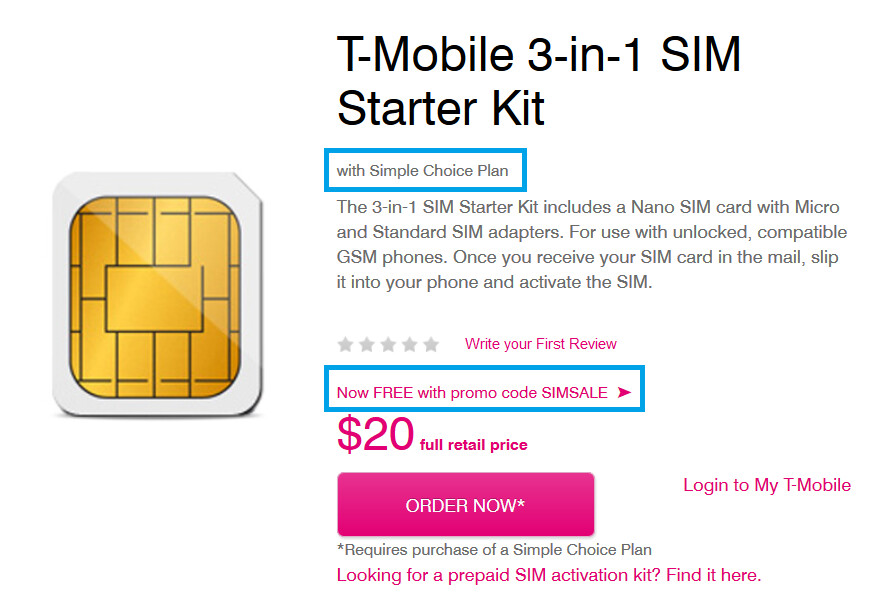 T-mobile Sim Card Brand New Unactivated Replacement (not for activating pre-paid service) by T-Mobile. order soon. Product Features can be used with any T-Mobile plans SIM card only, no activation Previous Page 1 2 3 7 Next Page. Show results for. Cell Phones & Accessories. Cell Phone SIM Cards.