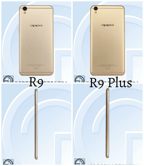 Oppo R9 and R9 Plus certified by TENAA
