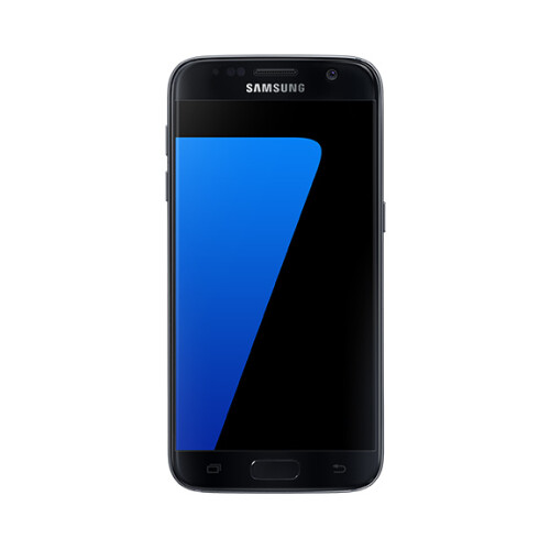 Samsung Galaxy S7 in black.