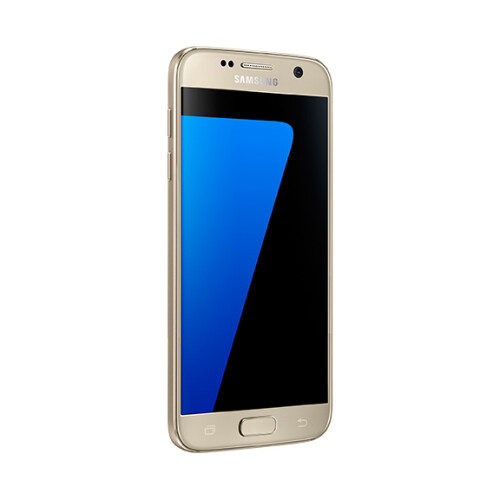 Samsung Galaxy S7 in gold.