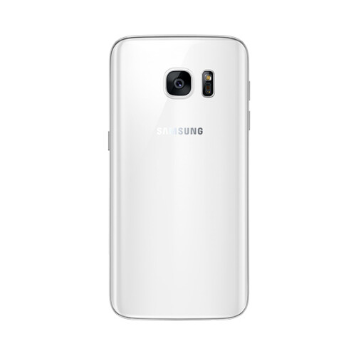 Samsung Galaxy S7 in white.