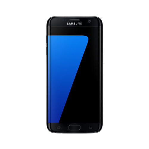 Samsung Galaxy S7 edge in black.