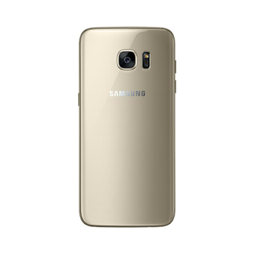 Samsung Galaxy S7 edge in gold.