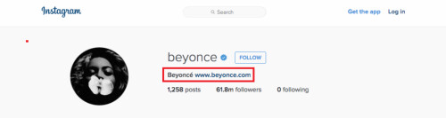 Celebrities can still link to their own websites
