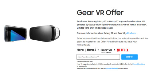 T-Mobile customers get 1-year of Netflix in addition to the Gear VR and games