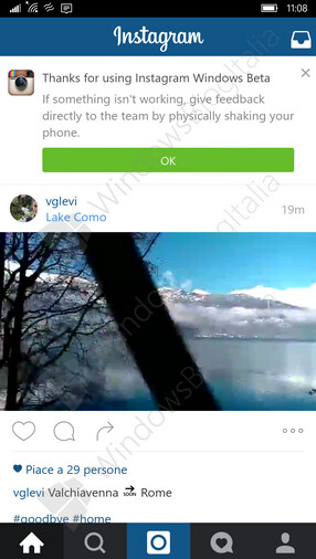 Screenshots of Universal Instagram Windows 10 app now in closed beta testing