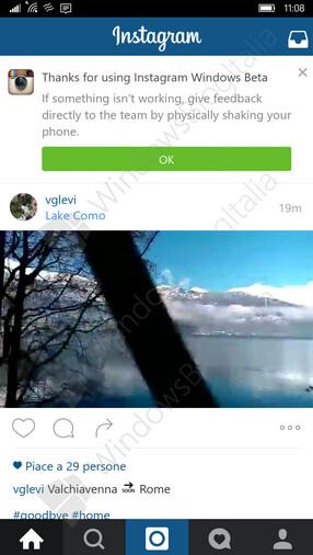 Screenshots of Universal Instagram Windows 10 app now in closed beta testing
