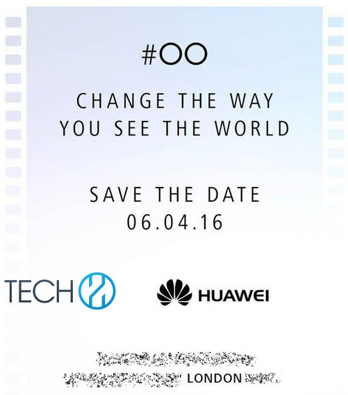Huawei sends out invitations for a media event to take place April 6th - Huawei sends out invitations to April 6th event; unveiling of Huawei P9 is hinted at