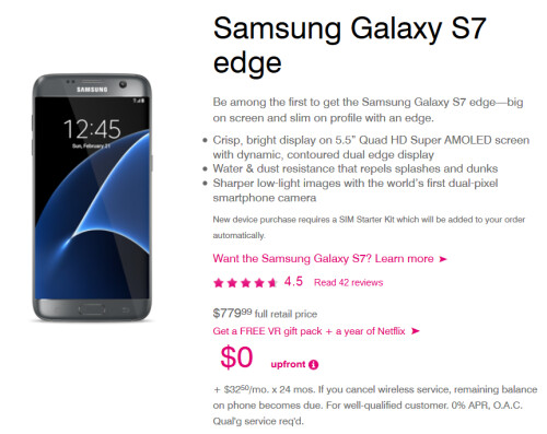 T-Mobile introduces its BOGO deal for the Samsung Galaxy S7 and Samsung Galaxy S7 edge