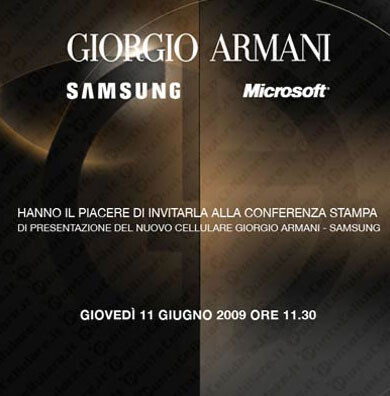 Samsung to announce the new Giorgio Armani… WM smartphone?