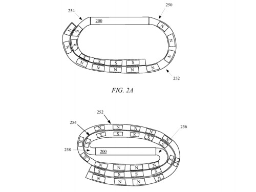 Patent images for Apple's Magnetic Wristband