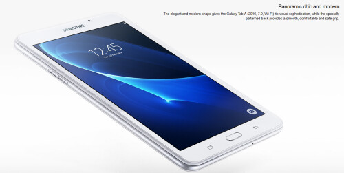 Samsung Galaxy Tab A (2016) appears on Samsung's website carrying a 7-inch display