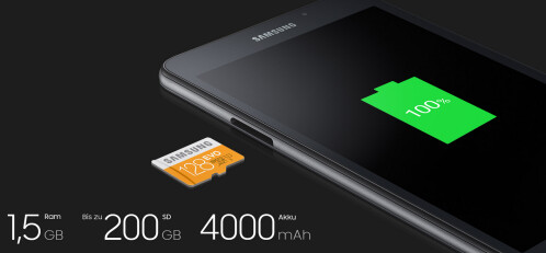 4000mAh battery provides up to 9 hours of streaming video and up to 100 hours of streaming music