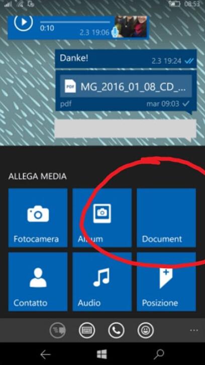 Document attach button prior to update