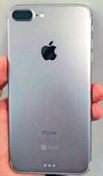 Alleged photo of the iPhone 7's rear surfaces: dual camera and Smart Connector?