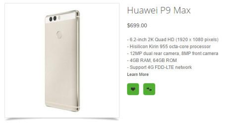 Huawei P9 specs leaked