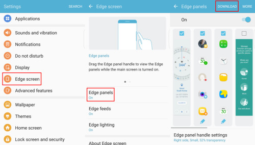 Put a file manager on the side of your Galaxy S7 edge with the EHZ panel