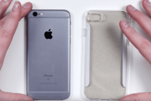 Leaked case for the Apple iPhone 7 is on the right