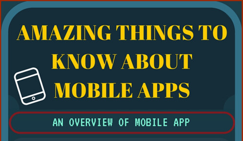 Amazing things to know about mobile apps infographic