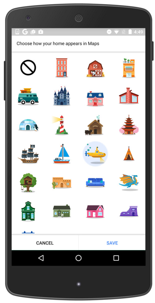Google Maps' new sticker feature