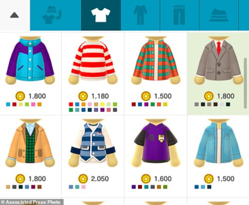 Nintendo monetized the app by selling clothing and accessories for Miis