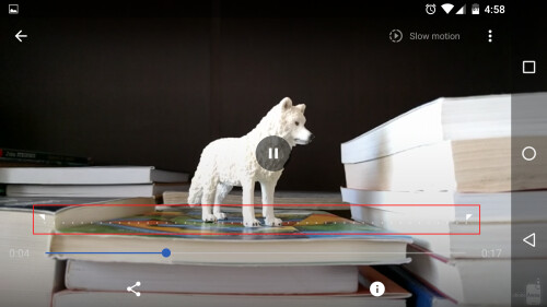 Obviously, you can choose to make the entire video play in slow mo.